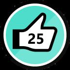 25 Kudos Given