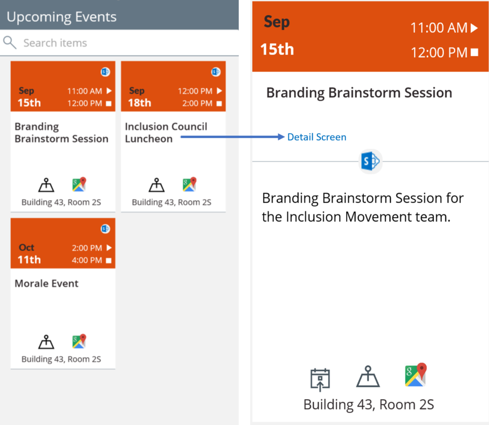 SharePoint Event Calendar App - Phone App