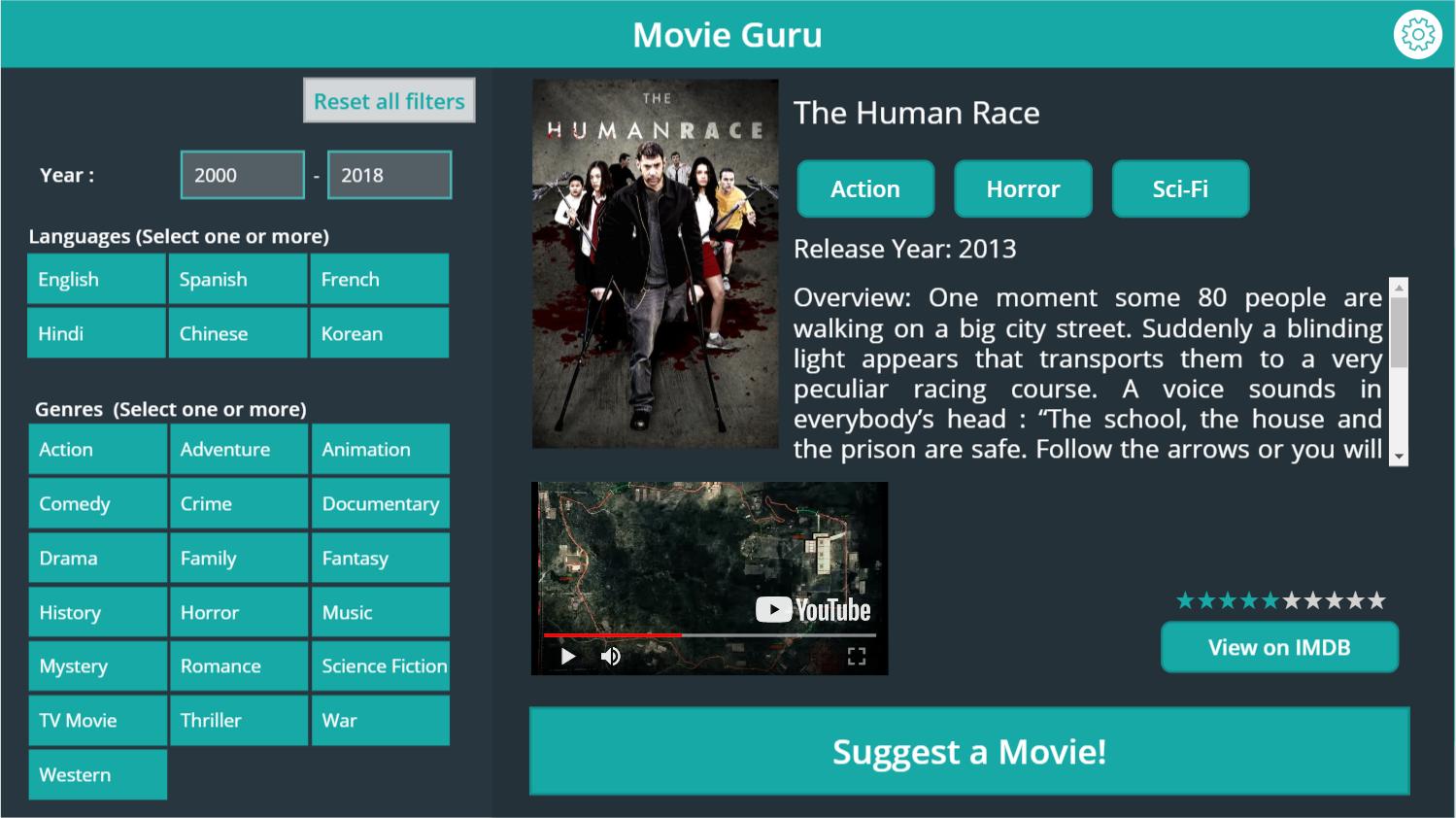 Random Movie Recommender
