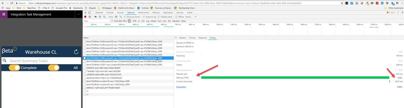 Collecting from Azure SQL Slow - Waiting (TTFB) - Power Platform
