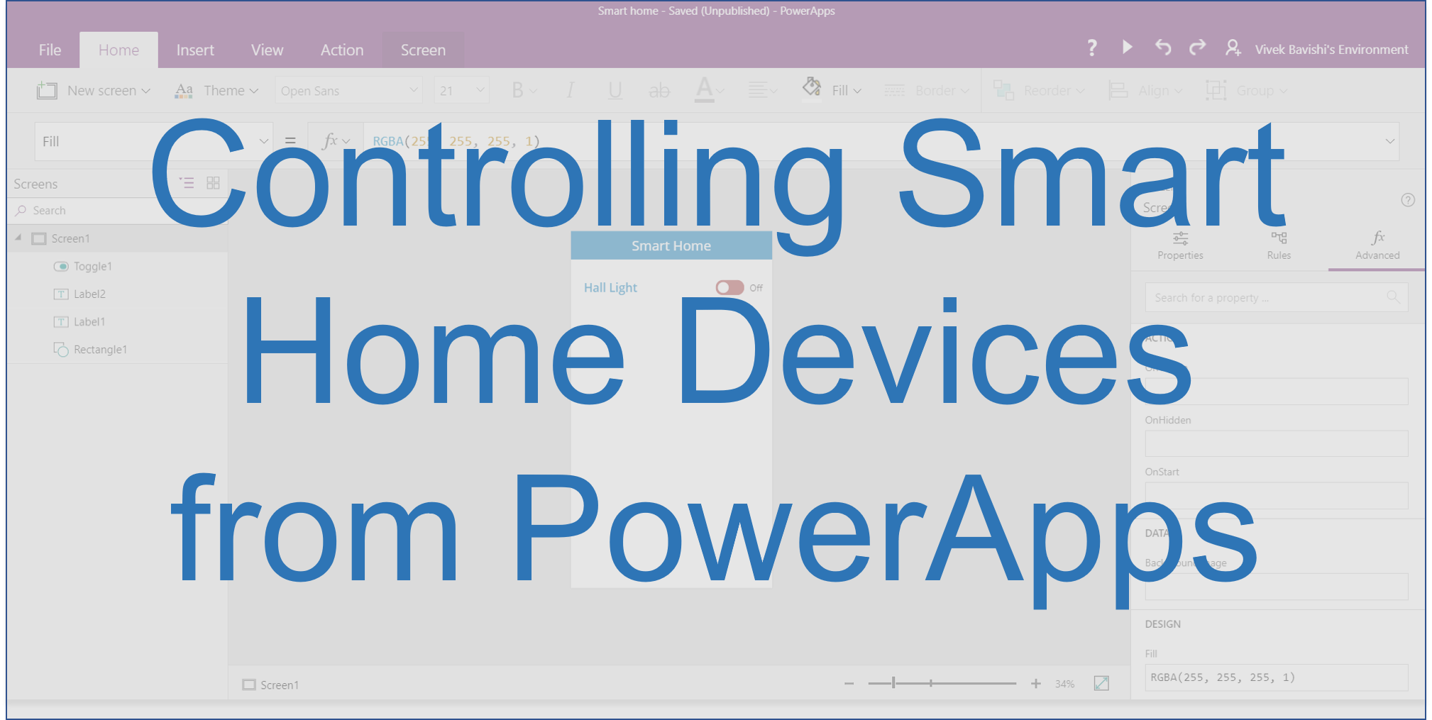Controlling Smart Home Devices from PowerApps