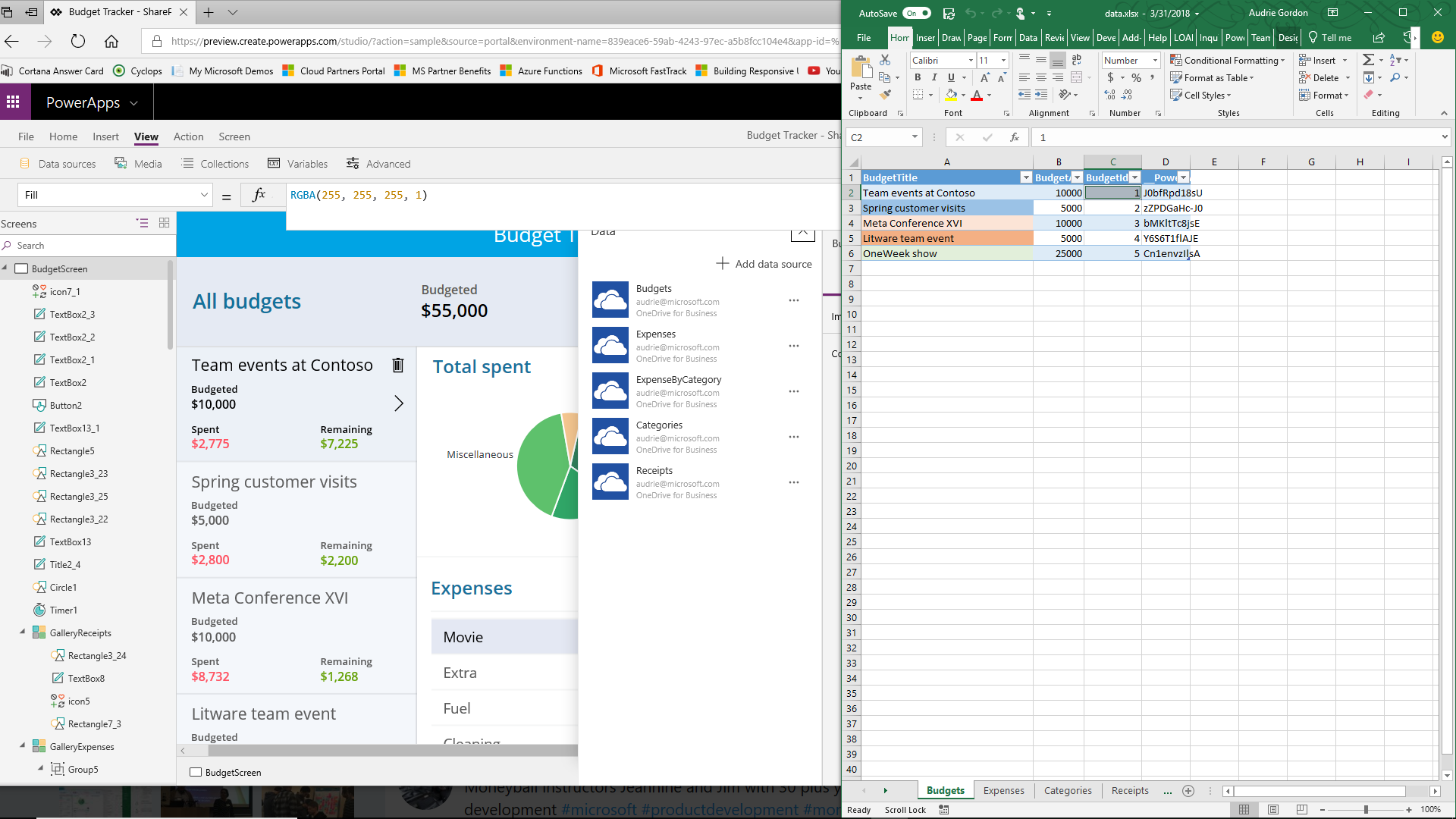 Friday Functions Series | Converting Budget Tracker Template to SharePoint App (PART 1)