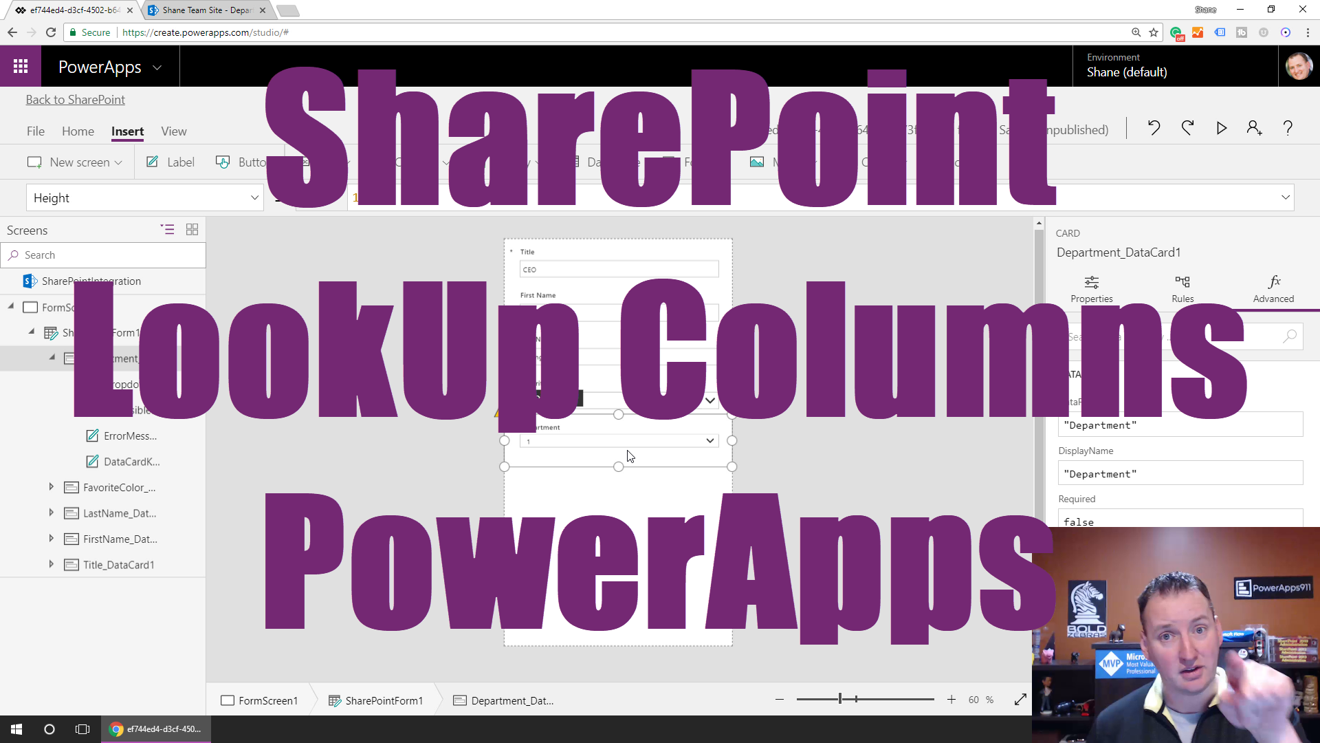 Recreated SharePoint Lookup columns in PowerApps