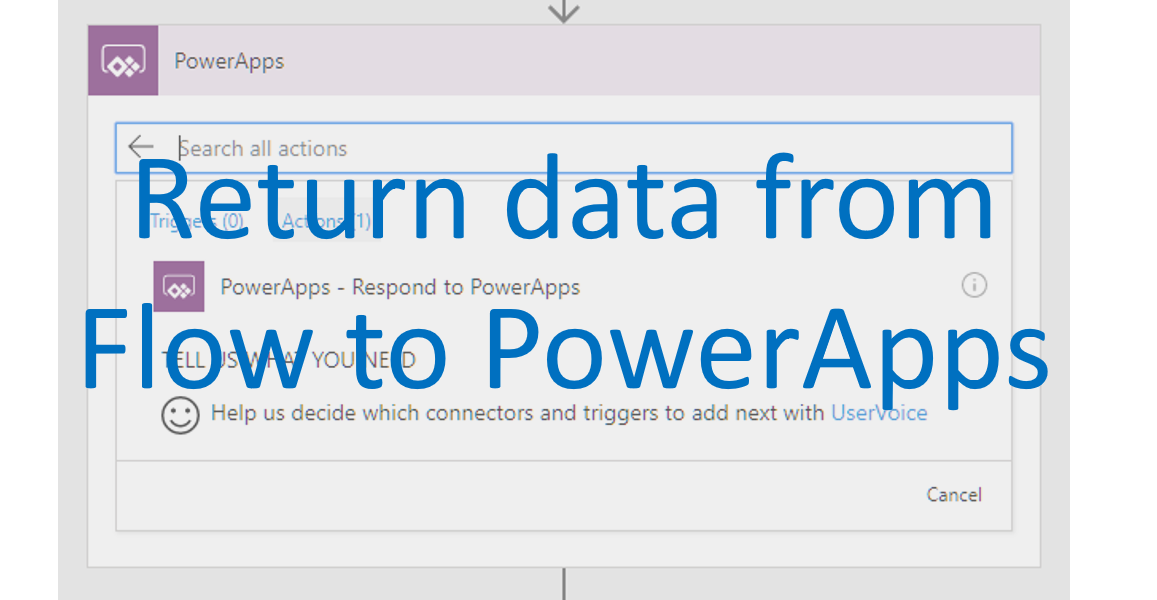 Return data from Flow to PowerApps