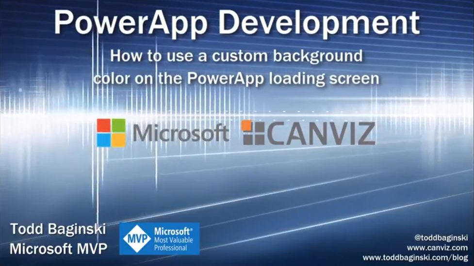 How to use a custom background color on the PowerApp loading screen