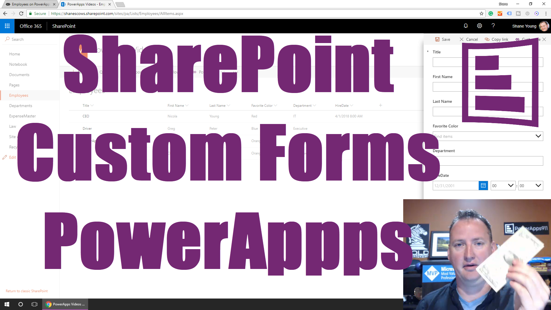 Learn to customize SharePoint List forms with PowerApps