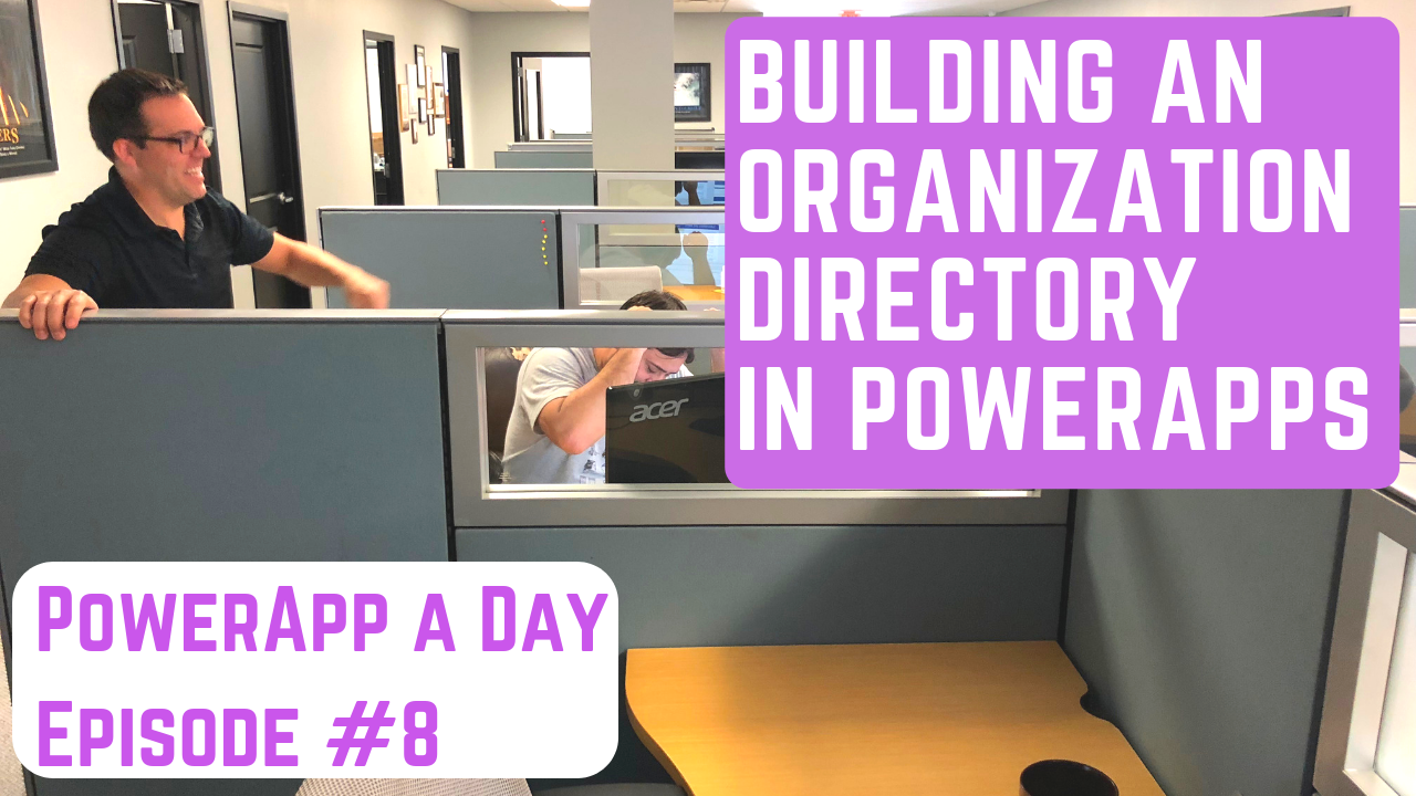 Search an Employee Directory in PowerApps w/ the Office365Users Connector