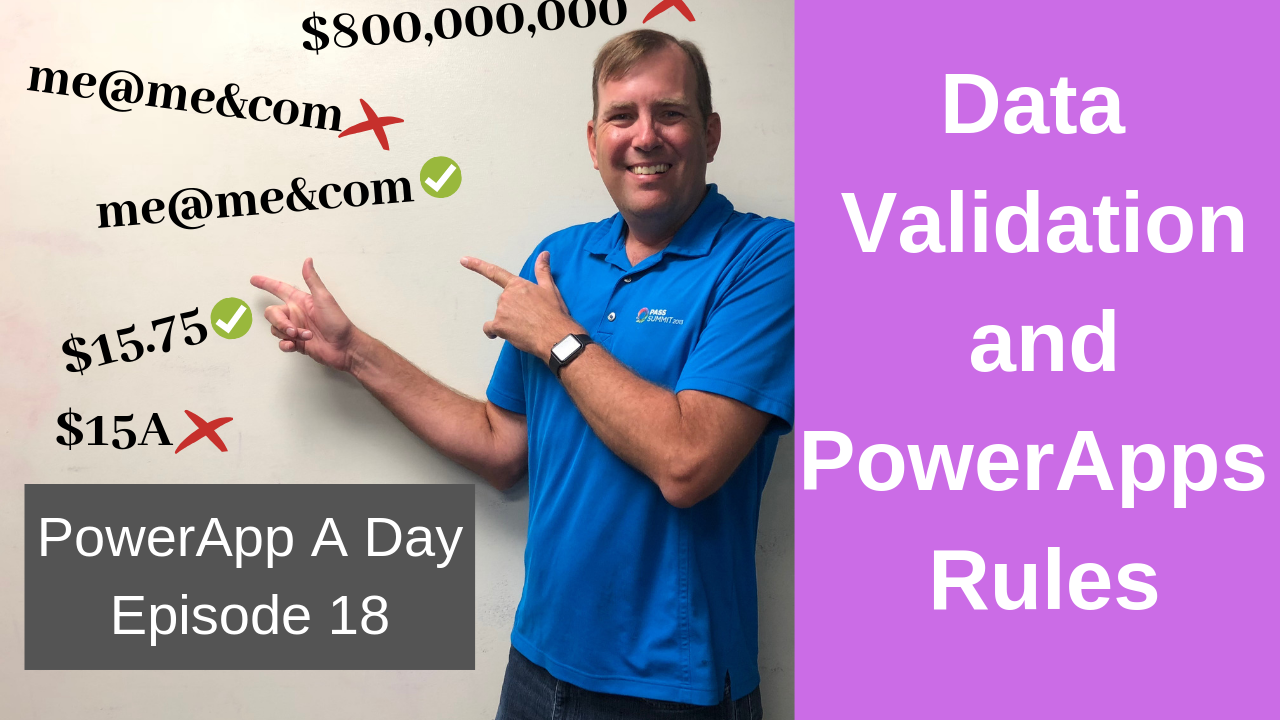 Using PowerApps Rules and Data Validation with the IsMatch Function