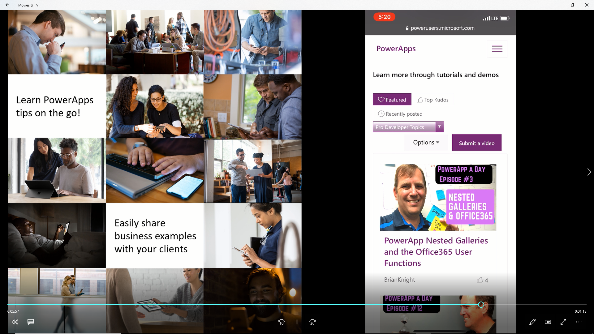 New! PowerApps Community Redesign Enables Mobile Viewing