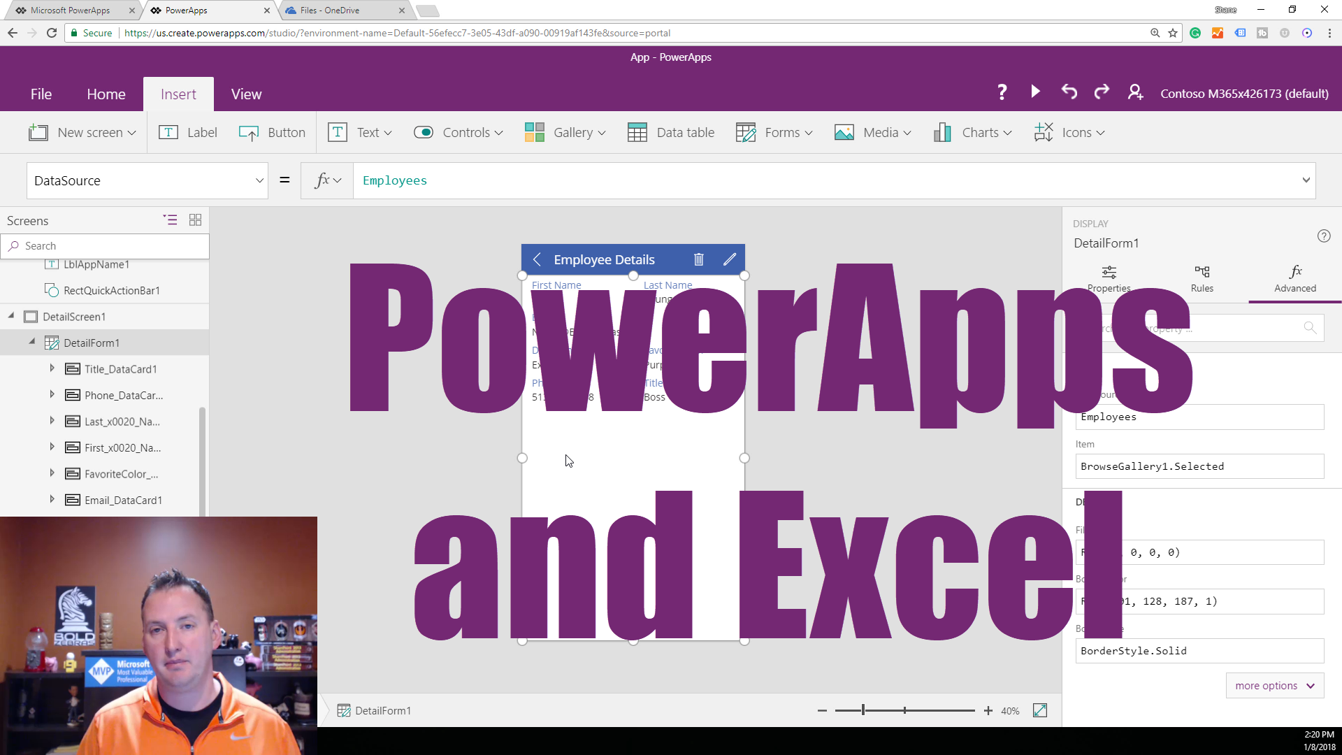Get Started with PowerApps and Excel