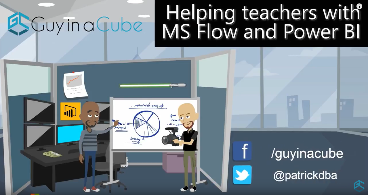 Guy In a Cube: Using Microsoft Flow and Power BI to help Teachers