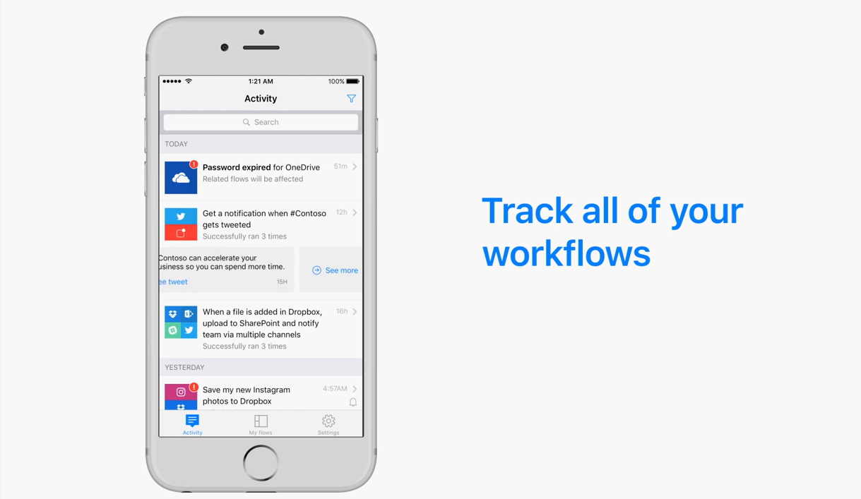 The Microsoft Flow Mobile App