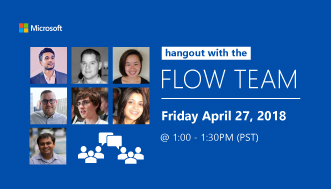 Flow Team Hangout Chat - April 27, 2018