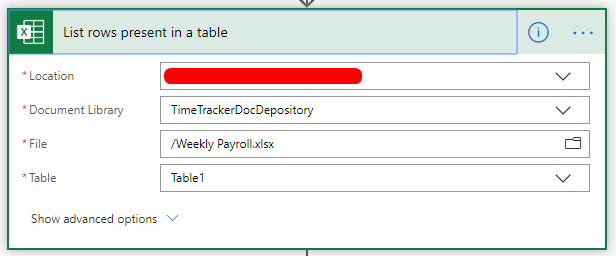04 - List rows present in a table
