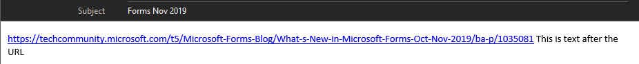 Outlook email body text