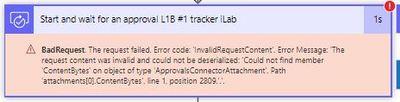 error when approval has attachment array