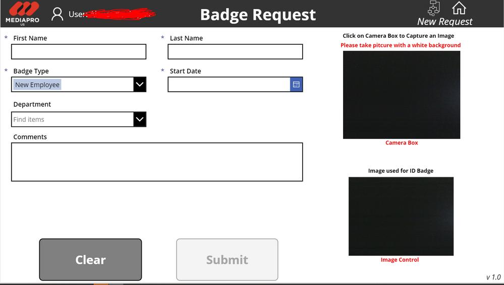 Badge Request