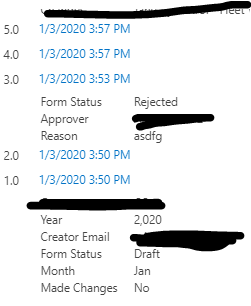 2.0 is the attachments. If I edited the form, suddenly the email creator became 4.0 version, and then the attachment is 5.0 version