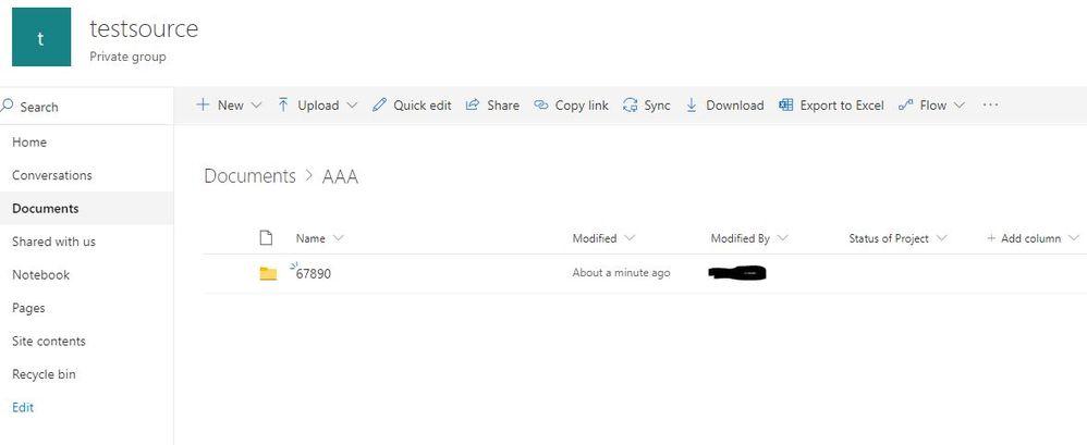 testSource folder (starting point)
