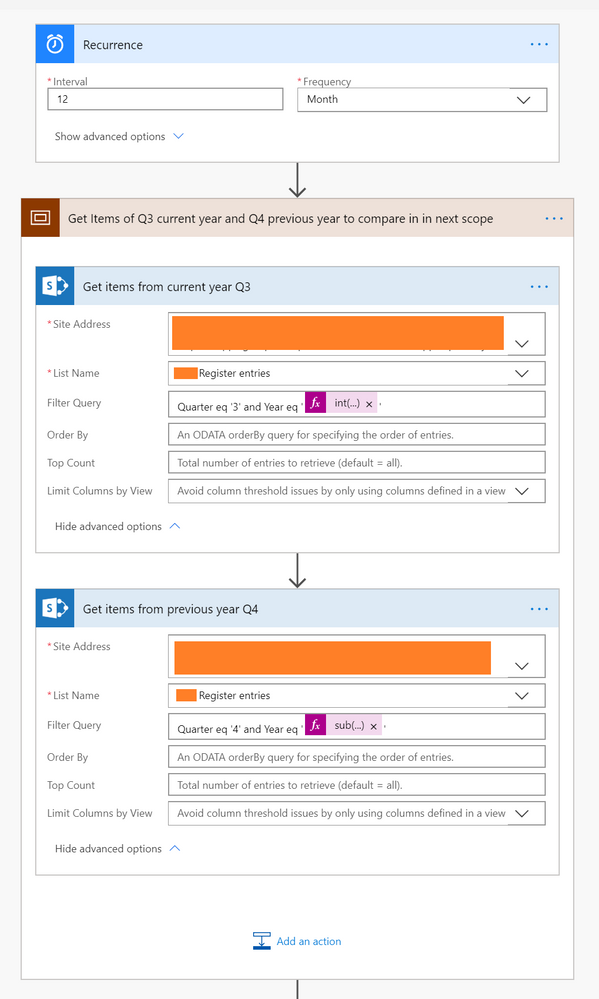 Collecting 2 different sets of information from the same SharePoint list