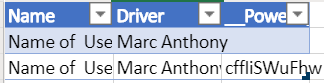 Table for booked drivers. if the count of the driver name is 2, meaning the driver cant accept any bookings and I dont want to show him on my gallery.