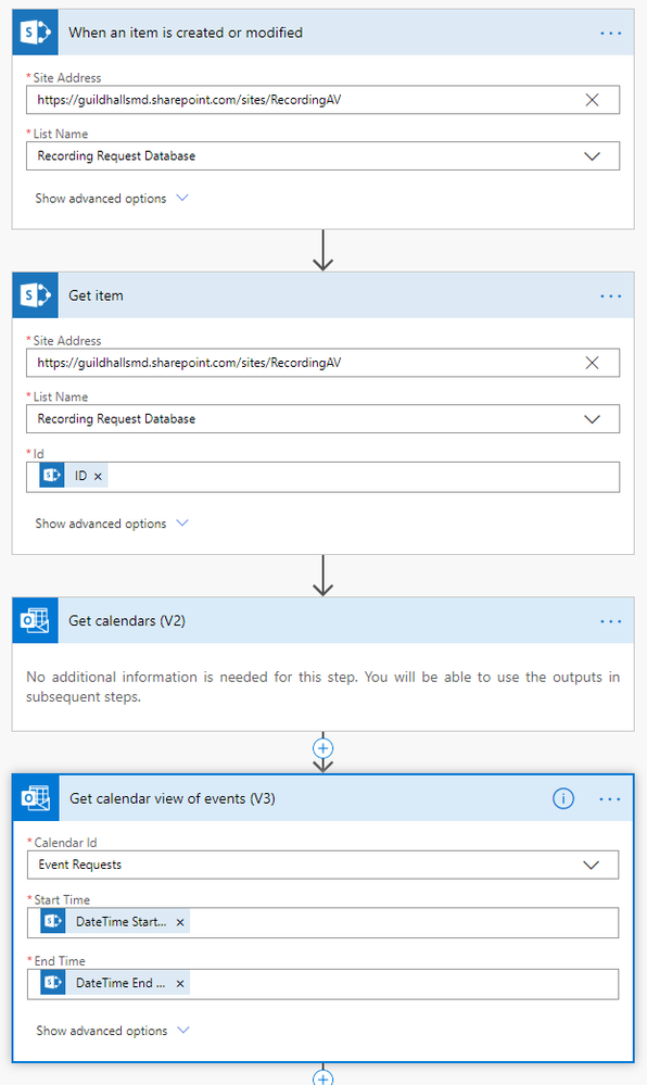 200218 Flow - Sharepoint to Outlook calendar.png