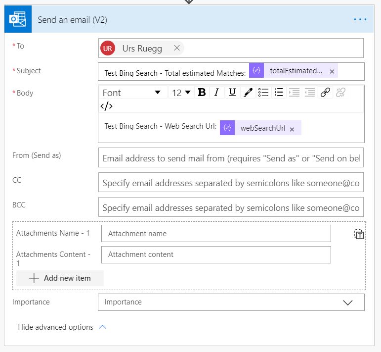 Bing Web Search API with Power Automate Part 2 - Send an email.PNG