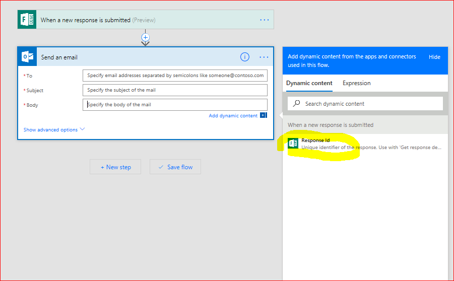 Solved Missing Dynamic Content In Microsoft Forms Power Platform Community