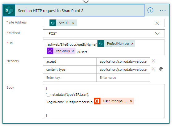 HTTP Request to add Individual User