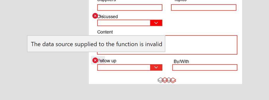function is invalid error