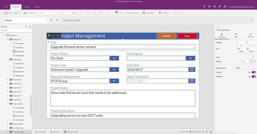 Edit Form Data Source