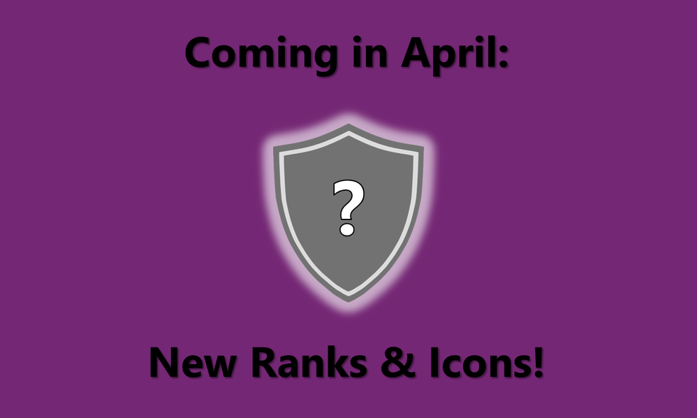 New Ranks and Rank Icons in April
