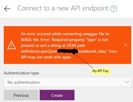 PowerApps error message