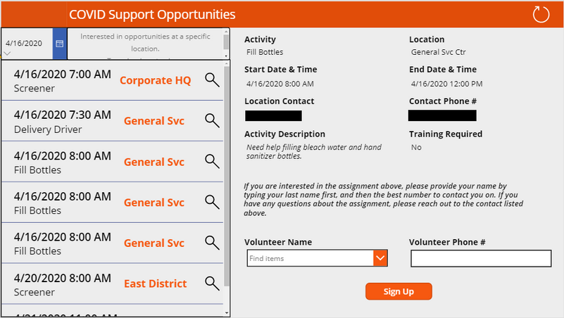 COVID Support App