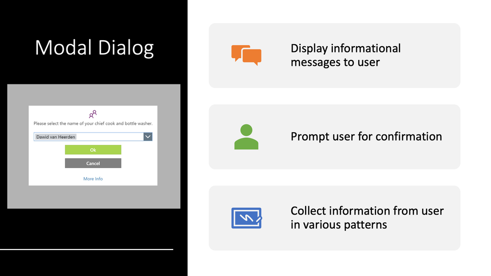Benefits of using generic Power Apps Dialog component