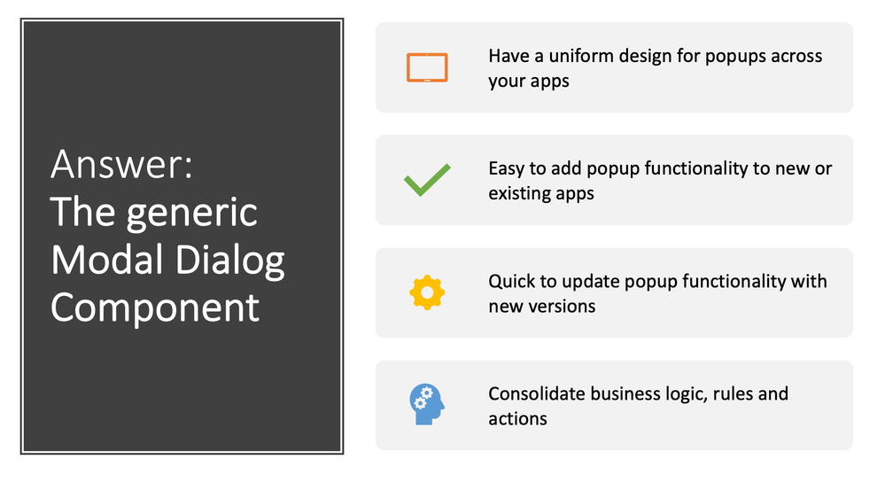 Power Apps Modal Dialog Component Benefits