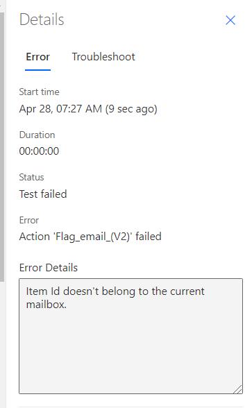 Error I receive