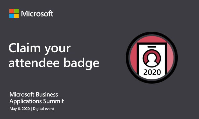 Attending MBAS? Claim your badge