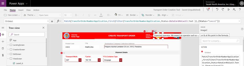 2020-05-10 12_35_25-Transport Order Creation Tool - Saved (Unpublished) - Power Apps.png