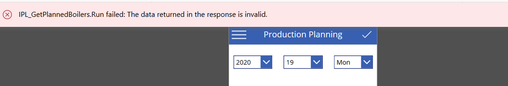 The datae returned in the response is invalid.PNG