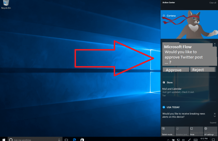 Flow Approve request using Windows 10 notification in the action center.png