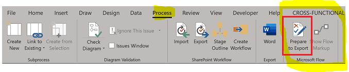 Visio Microsoft Flow Menu.PNG