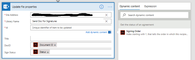 No File Property fields available as Dynamic content