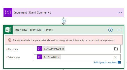 I get no columns, when using variables