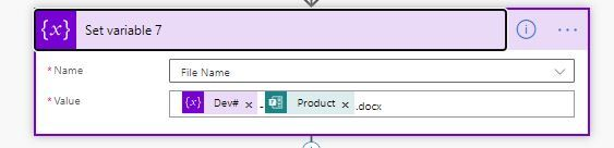 The Variable used to set filename
