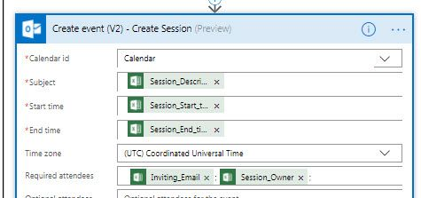 Create Event V2 allows UTC