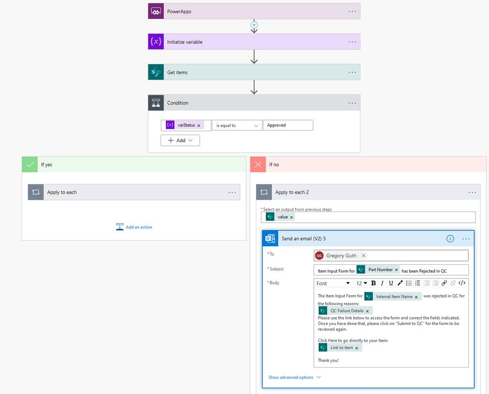 New Item workflow