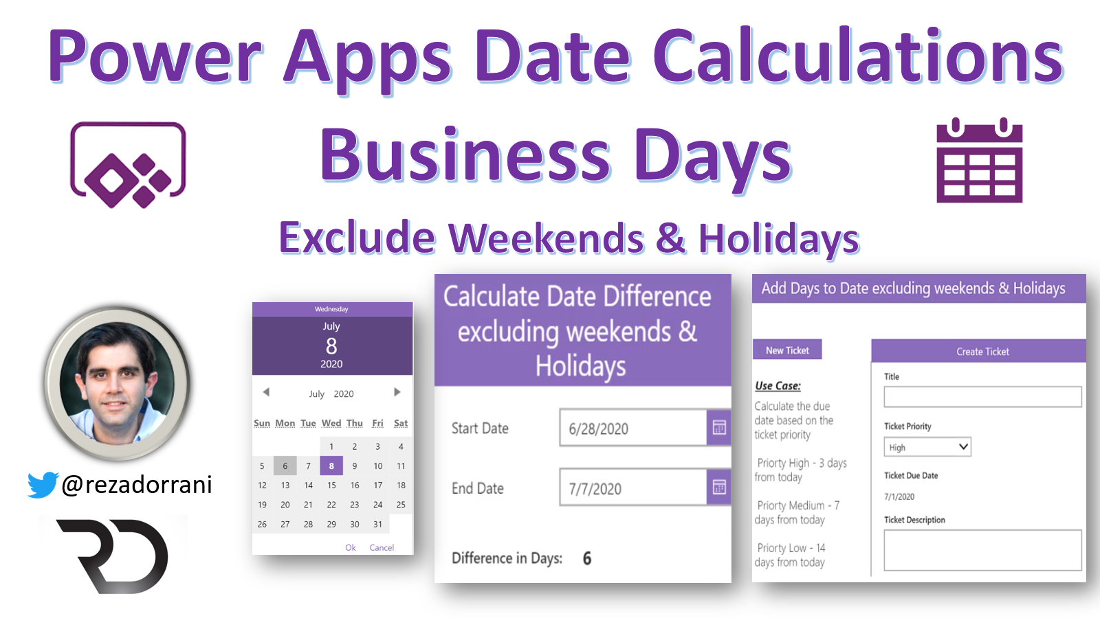 Power Apps Date Calculations for Business Days   Power Platform ...
