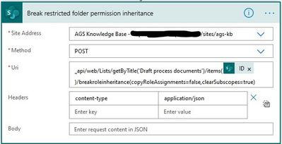 HTTP call to break permission inheritance