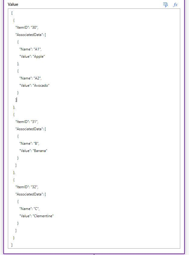 Example of nested array